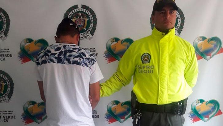 A Wílder Cardona lo capturaron por un homicidio en Calarcá