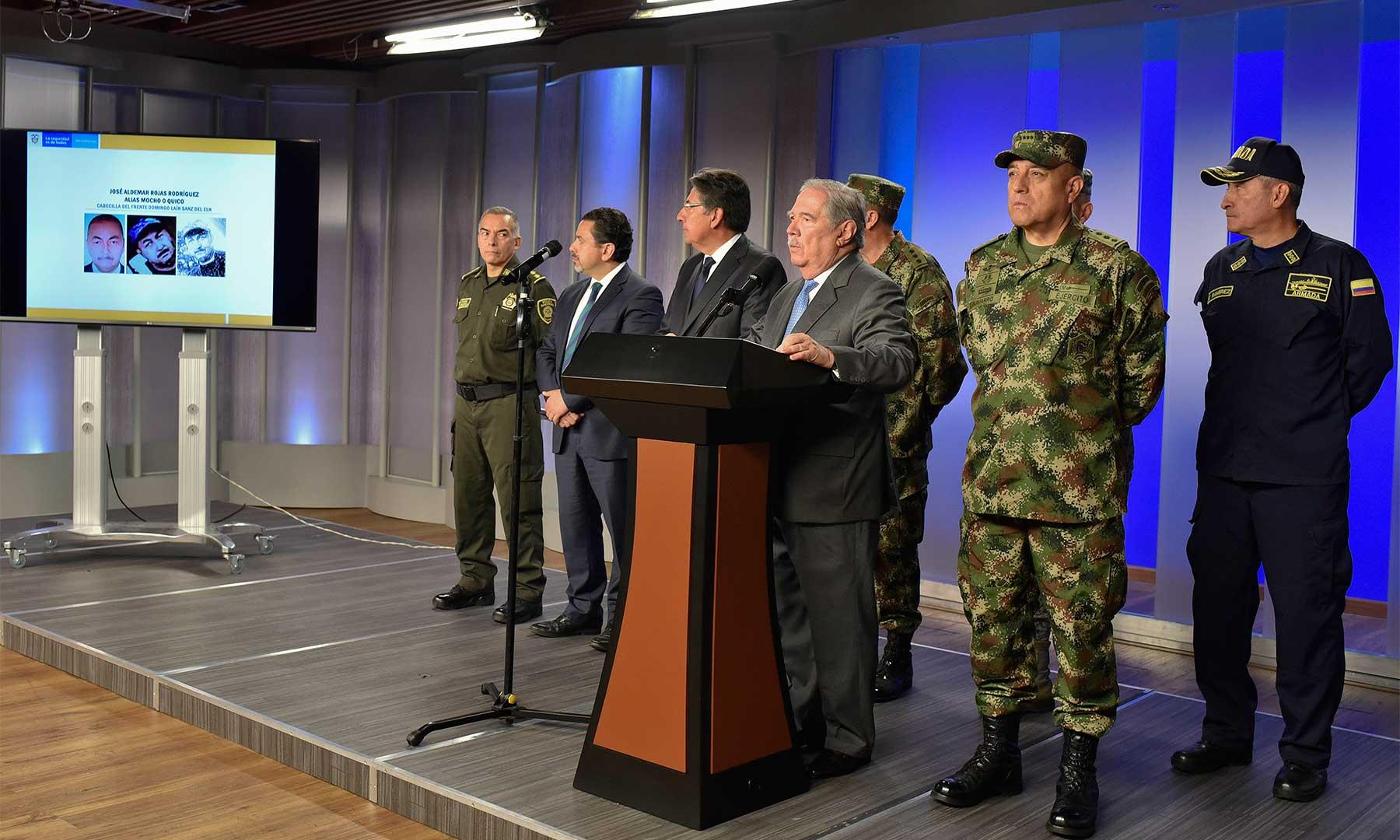Gobierno responsabiliza al Eln del atentado terrorista en Bogotá