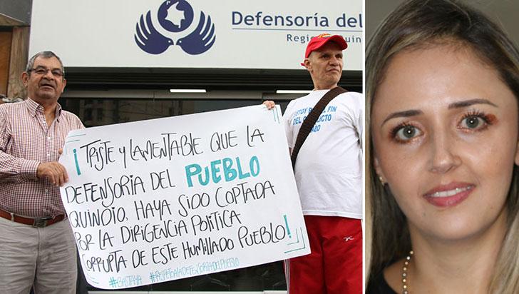 En medio de protestas, Luisa León se posesionó como defensora del pueblo en Quindío