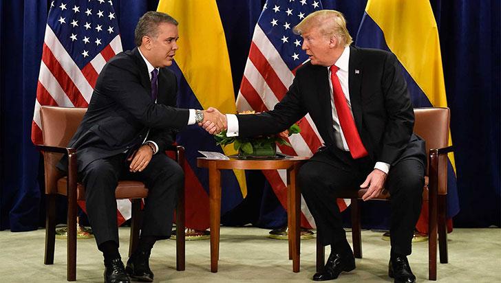 Trump recibirá al presidente de Colombia, Iván Duque, la próxima semana