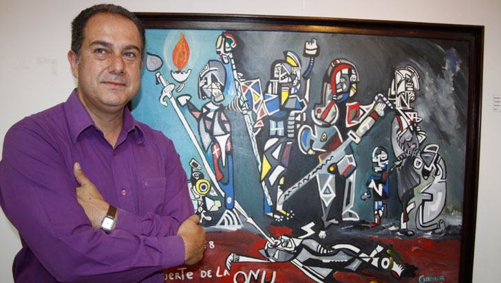 La muerte de la ONU, pintura de Alonso Gaona