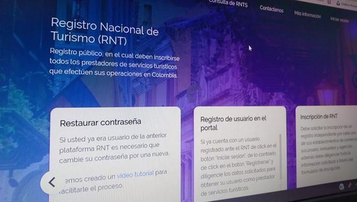 Prestadores de servicios turísticos podrán actualizar RNT de manera más sencilla