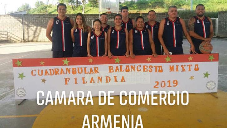 En Filandia, cámara de comercio ganó el mixto de baloncesto
