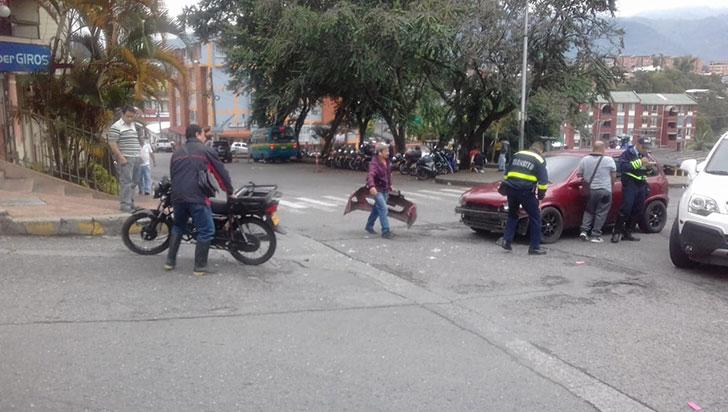 Motociclista resultó lesionado tras sufrir accidente de tránsito