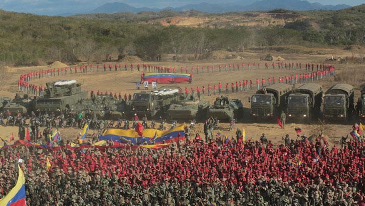 Venezuela reforzó presencia militar en frontera con Colombia tras el arribo de ayuda