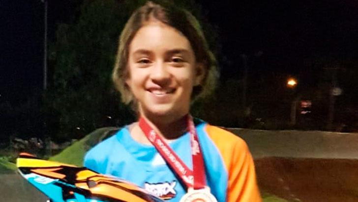 Sofía Ávila fue tercera en la Copa Occidental de BMX