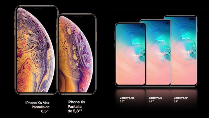La telefonía móvil trae una nueva batalla: iPhone XS y Galaxy S10