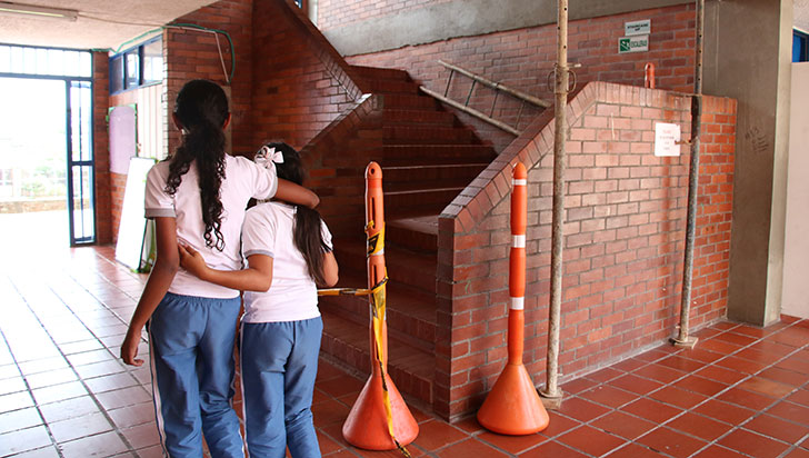 En el Santa María Goretti alertan de peligro por muros a punto de colapsar