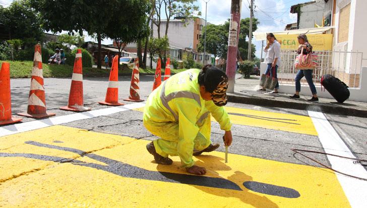 Con $320 millones, Setta adelanta señalización en la ciudad