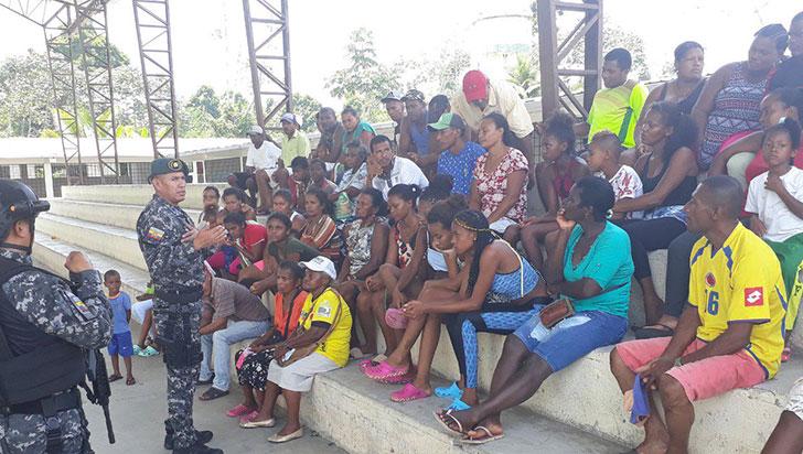 Cerca de 150 personas se desplazaron a Ecuador por enfrentamientos en Nariño