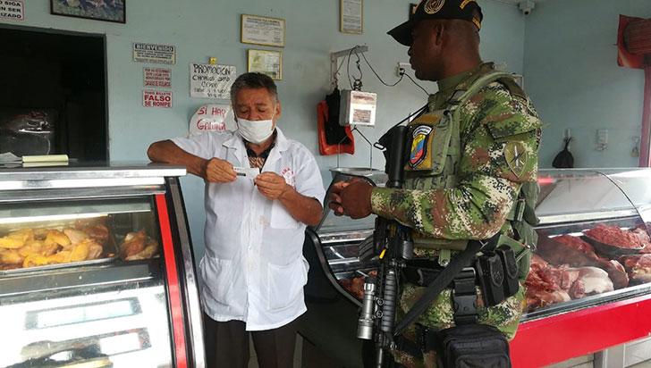 Policía y Ejército hicieron campañas de prevención contra la extorsión