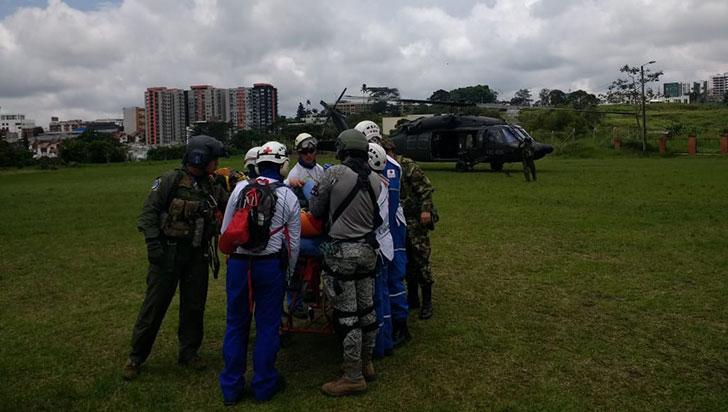 Rescataron a ciudadana alemana accidentada en Parque Los Nevados