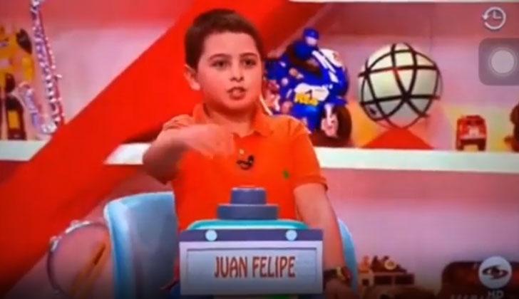Juan Felipe, el niño que en Sábado Felices dijo que Uribe es corrupto