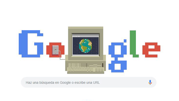 Google conmemora los 30 años del nacimiento de la World Wide Web con un Doodle