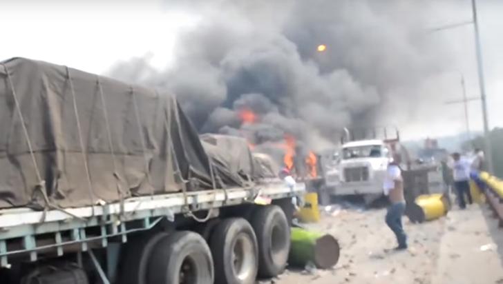 Colombia niega que se manipulara vídeo del incendio de ayudas a Venezuela