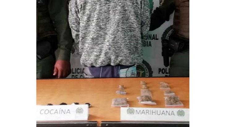 Capturado con cocaína y marihuana