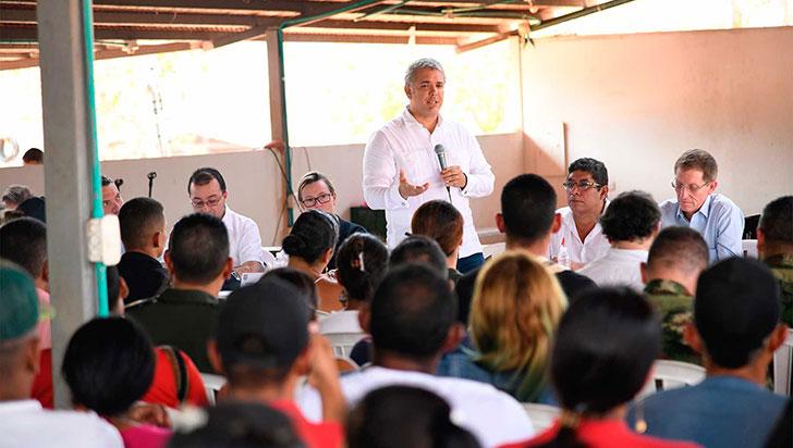 Duque dice que objeciones a ley JEP no afectan cumplimiento de acuerdo de paz