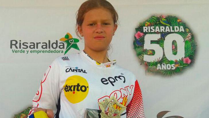 Silvana Muñoz, el único oro regional en nacional de BMX