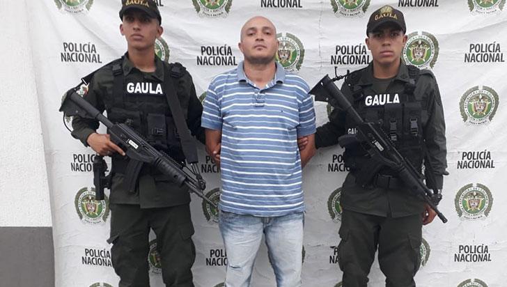 Por extorsión, alias Cholo, miembro de 'Los Rastrojos', fue detenido en Montenegro