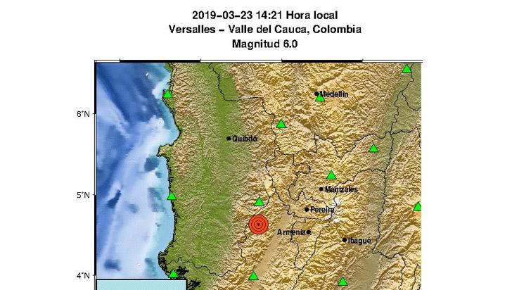 Fuerte temblor de 6,0 grados se sintió en el Quindío y varias zonas del país