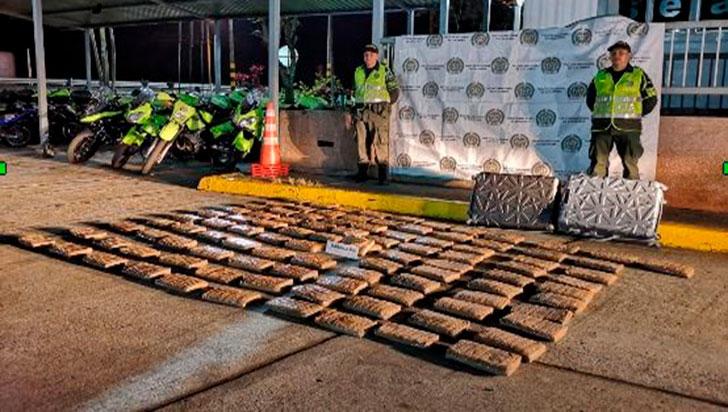 Capturado con 26,8 kilos de marihuana avaluados en 100 millones de pesos