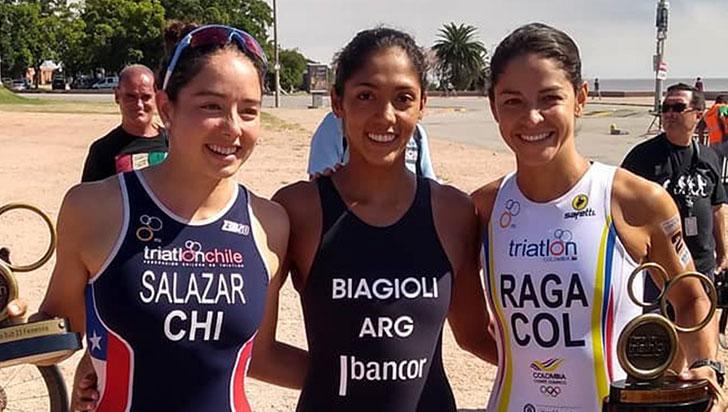 Por los suramericanos de triatlón de Uruguay, Raga logró la plata
