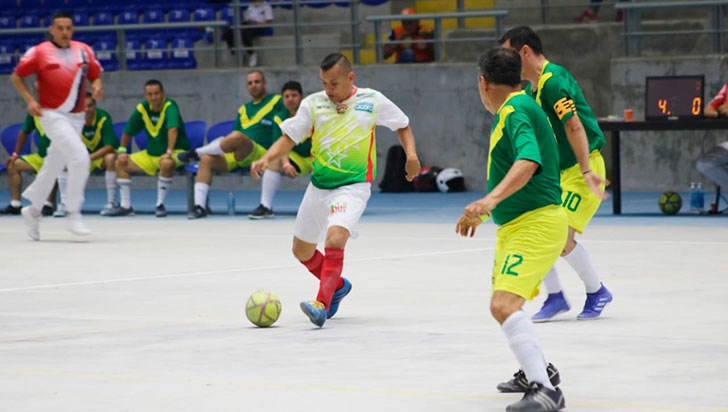 En Juegos Acord, el local Santander eliminó a Quindío en futsalón