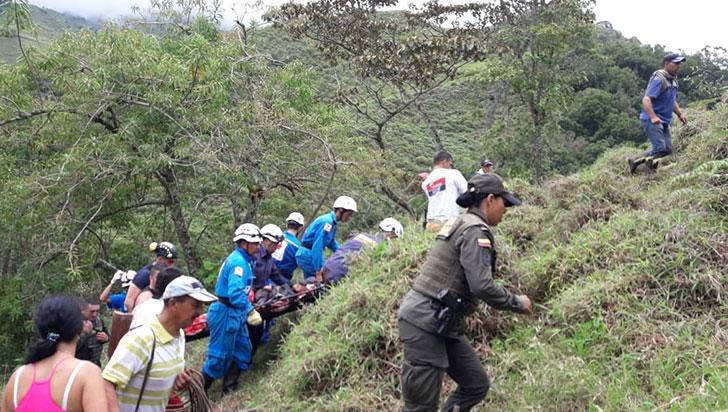 En casos aislados, autoridades rescataron a dos personas en zona rural de Calarcá