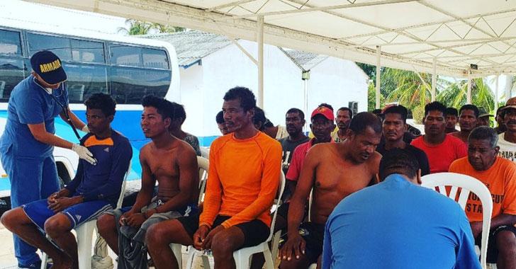 Rescatan a 25 pescadores nicaragüenses y 3 hondureños en Isla Serranilla