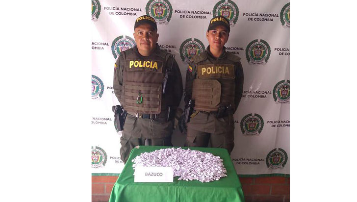 Policía en Calarcá impidió que 2000 dosis de bazuco fueran vendidas