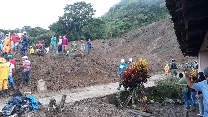 Número de víctimas fatales por derrumbe en Rosas, Cauca, asciende a 30