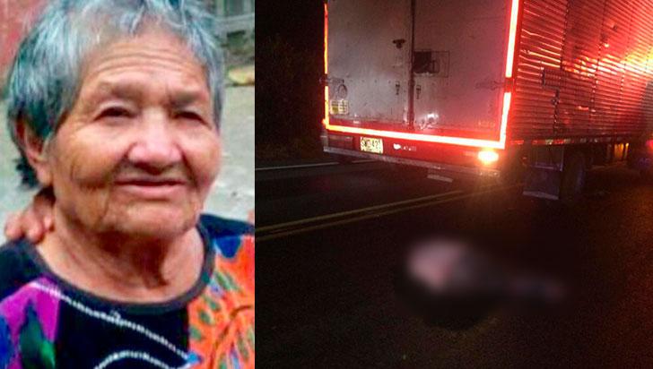 Mujer falleció tras ser atropellada por camión en la vía La Tebaida - La Paila