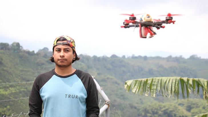 Juan Pablo Garcés, mejor piloto de drones de Colombia