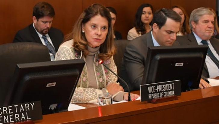 Marta Lucía Ramírez pidió más sanciones económicas para el gobierno de Maduro
