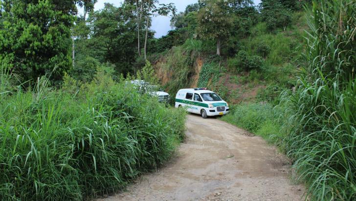 Hombre baleado fue encontrado en una vereda de Quimbaya