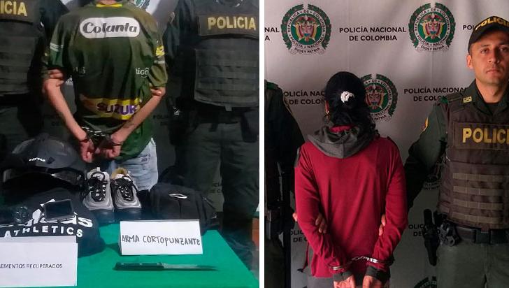 Por tráfico de estupefacientes y hurto, tres capturados en Calarcá