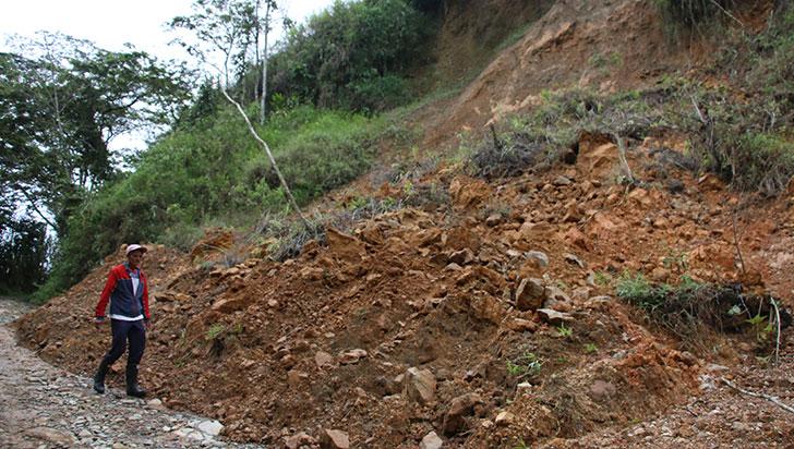 Casi tres años después, derrumbe en Chagualá sigue sin removerse