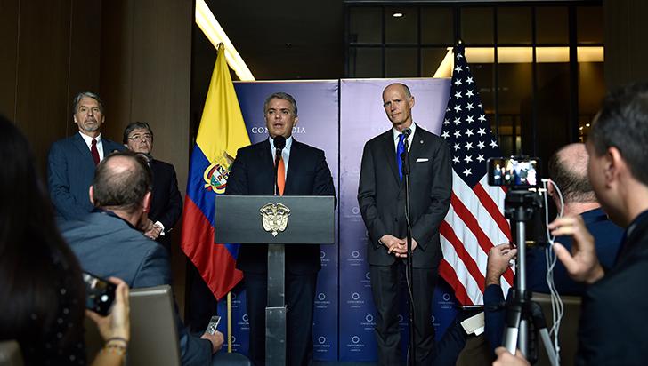 EE.UU. entrega 160 millones de dólares para implementar la paz en Colombia