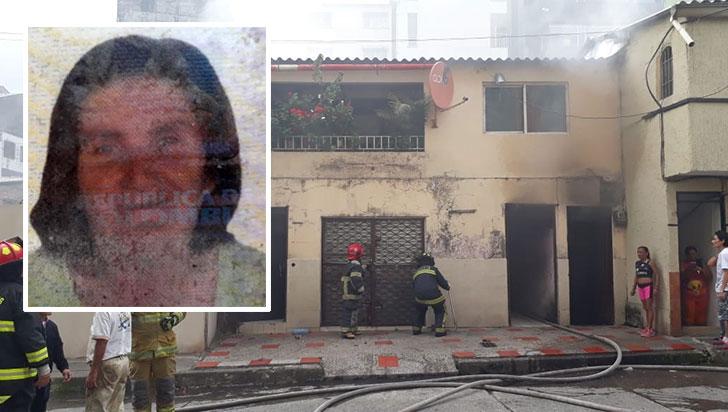 Incendio en el barrio Guayaquil de Armenia cobró la vida de María Yolanda Sánchez