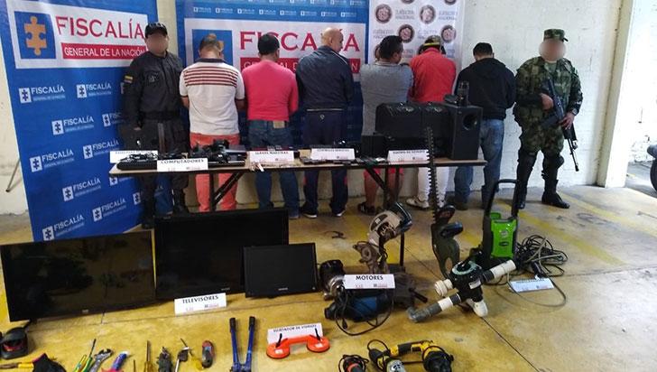Desmantelan banda dedicada a robar en las fincas del Quindío