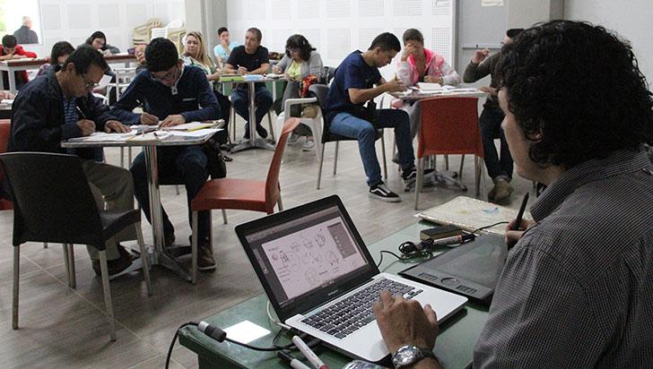 Con total éxito se realizó el curso de caricatura con Feroz organizado por LA CRÓNICA