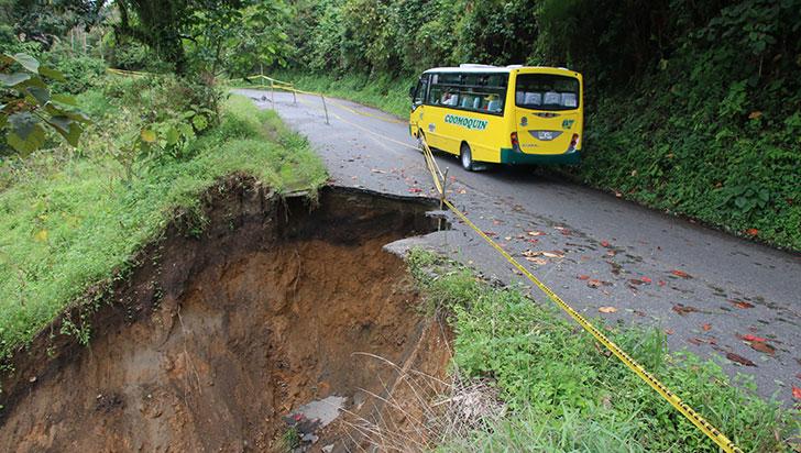 A la espera de estudios están en Pijao para los arreglos de la vía