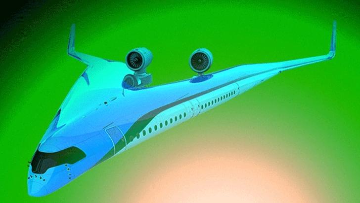 Quieren construir un avión en forma de V que llevará a los pasajeros en las alas