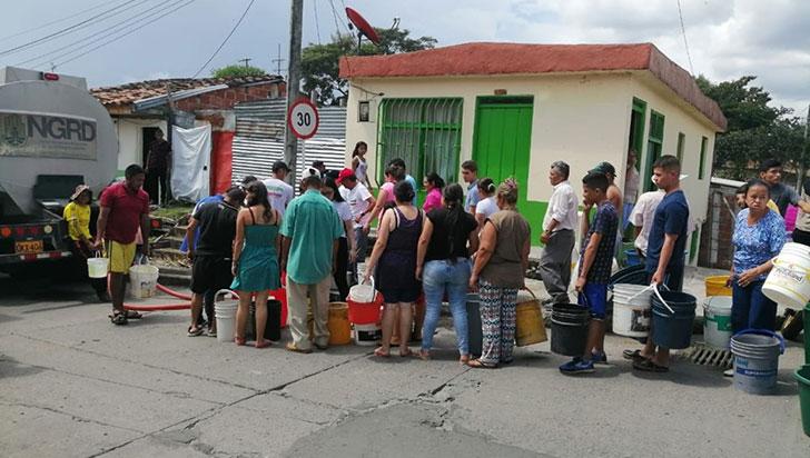 Montenegro completó tres días sin agua; este lunes algunos barrios contarían con el servicio