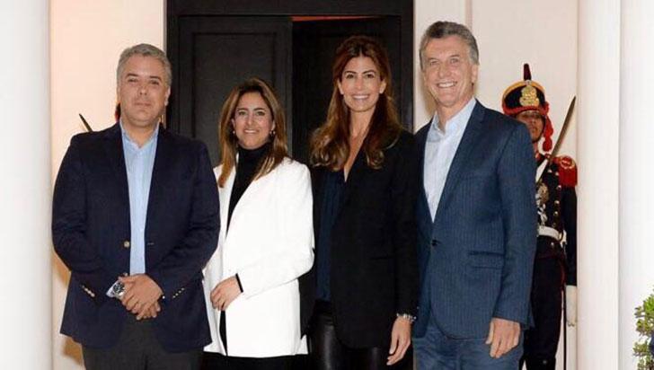 Duque y su esposa iniciaron visita a Argentina con una cena con los Macri
