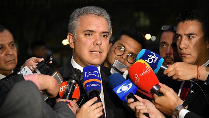 """Duque llama """"mafioso"""" a Santrich y dice que espera que la Justicia lo condene"""