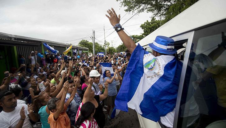 Gobierno de Nicaragua liberó periodistas, campesinos y estudiantes opositores