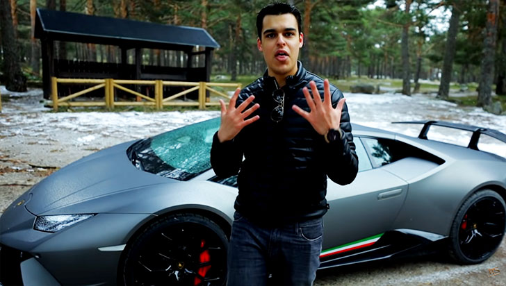 El conocido youtuber español David Díaz fue detenido por conducir a 228 km/h