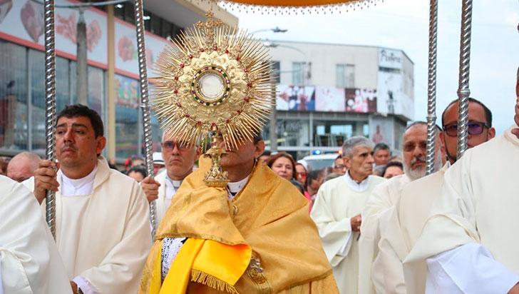 Ceremonia de Corpus Christi, contó con una amplia asistencia