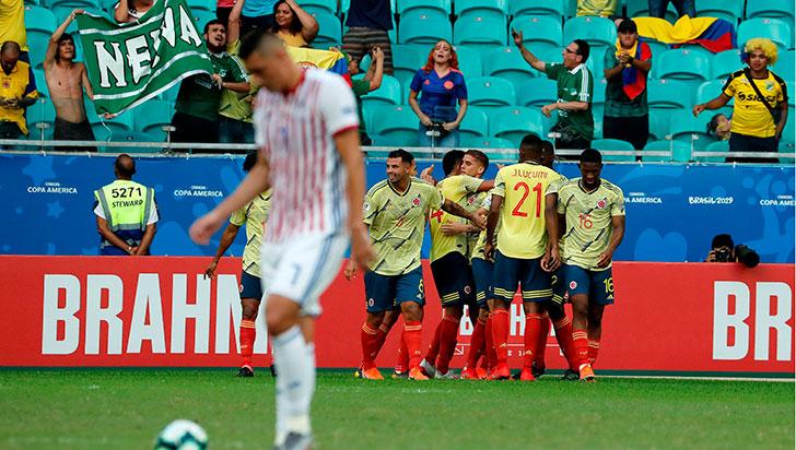 Colombia terminó con puntaje perfecto fase de grupos de la Copa